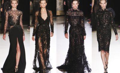 siyah dantel elbise 400x242 - Siyah Abiye Modelleri ve Modası