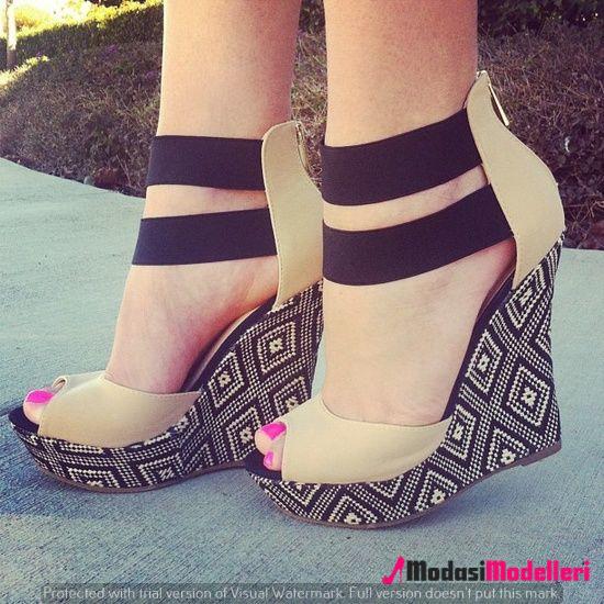 dolgu topuk ayakkabı modelleri 2 - Dolgu Topuk Ayakkabı Modelleri