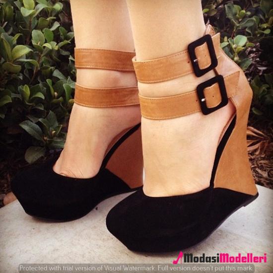 dolgu topuk ayakkabı modelleri 3 - Dolgu Topuk Ayakkabı Modelleri