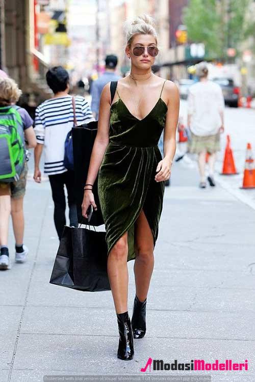 kadife elbise modelleri 3 - Kadife Elbise Modelleri - Trendleri