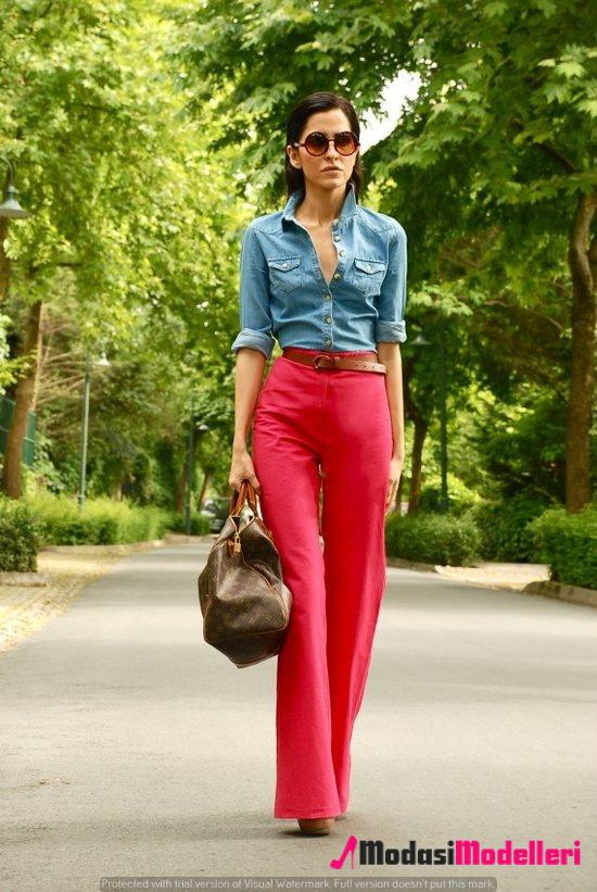 yüksek bel pantolon kombinleri 2 - Yüksek Bel Pantolon Kombinleri