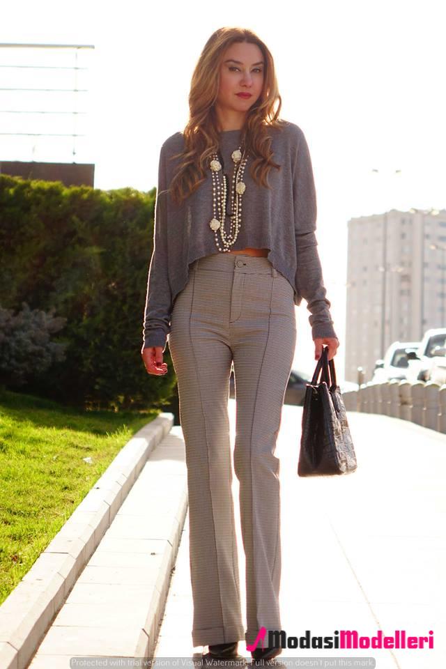 yüksek bel pantolon kombinleri 5 - Yüksek Bel Pantolon Kombinleri