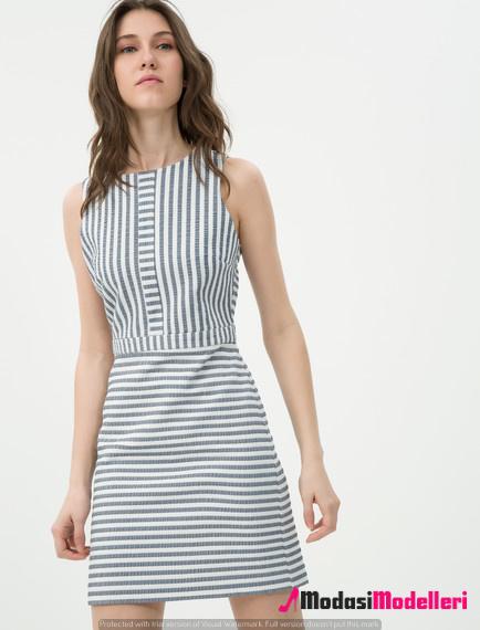 3ed38ad9504c5 Koton Çizgili Elbise Modelleri Ve Modası - Modası Modelleri