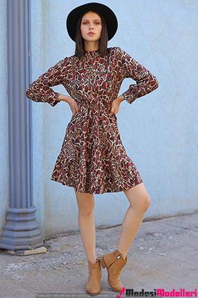 leopar desen elbise modelleri 3 - Leopar Desen Elbise Modelleri Ve Modası