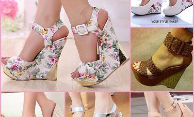 Platform topuk bağcıklı yazlık bayan ayakkabı modelleri 400x242 - Ucuz Bayan Ayakkabı Modelleri