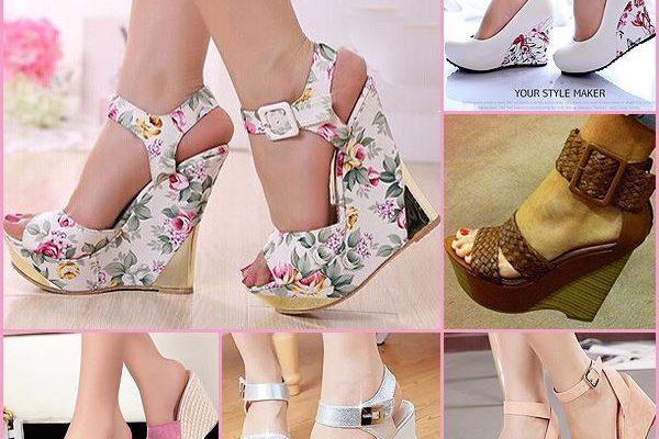 Platform topuk bağcıklı yazlık bayan ayakkabı modelleri 600x400 - Ucuz Bayan Ayakkabı Modelleri
