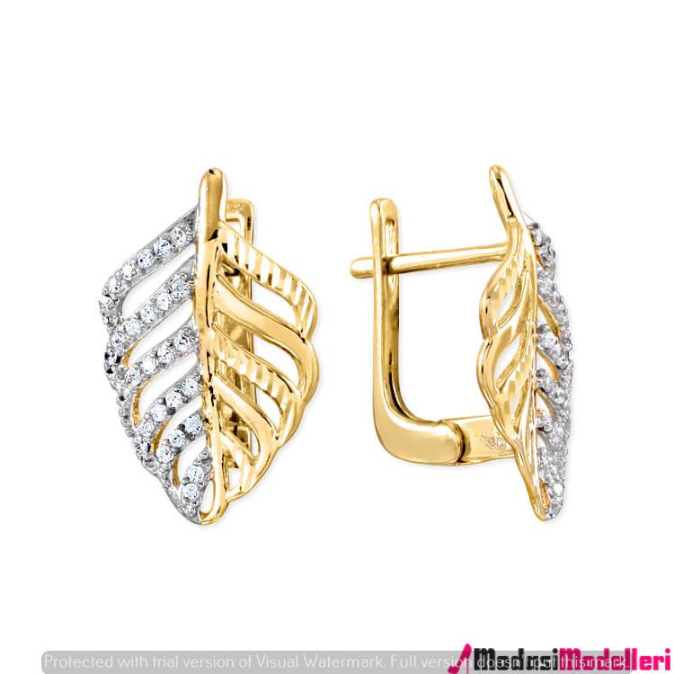 altın kupe modelleri 3 - Altın Küpe Modelleri Ve Modası
