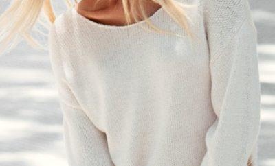 Beyaz yanları iplik detaylı HM bayan kazak modeli 400x242 - Triko Kazak Modelleri Ve Modası